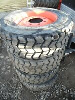 Used 10 – 16.5 tires for Bobcats, skid steers from $15 ea