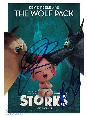 Storks  Keegan Michael Key   Jordan Peele Autographed 8X10 Photo With Coa By Cha