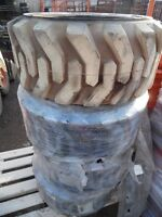 12 – 16.5 Bobcat tires & rims, skid steers, used & new, from $20