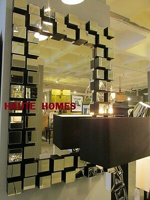 "NEW LARGE 42"" MODERN CUBIC FRAME VENETIAN WALL VANITY MIRROR CHIC"