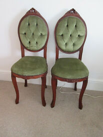 Very nice pair of Antique repoduction occasional chairs