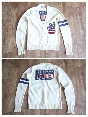 100% AUTH SUPER RARE HYSTERIC GLAMOUR UNISEX SWEATER CARDIGAN JACKET HG LOGO