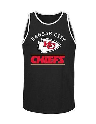 NFL Kansas City Chiefs Majestic Go Far Tank Top - Black - Men's Tank