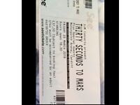 30 Seconds to Mars tickets x2