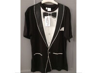 C brand new with tags tuxedo t shirt L
