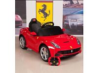 Licensed 12v Ferrari F12 ride on car with remote control music and lights (leeds) only £175