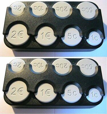 2 Stück Große Münzhalter Made in Germany Münzbox Geldbox Euro Münzspender