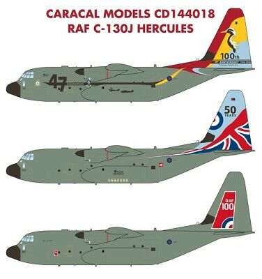 Used, Caracal Models 1/144 decals CD144018 for RAF C-130J Hercules Minicraft model kit for sale  Cape Coral
