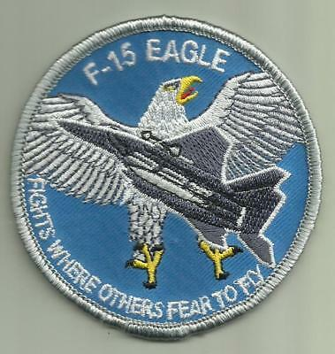 F-15 EAGLE FIGHTER JET AIRCRAFT PATCH USAF PILOT SOLDIER AVIATION NAVY USMC USA