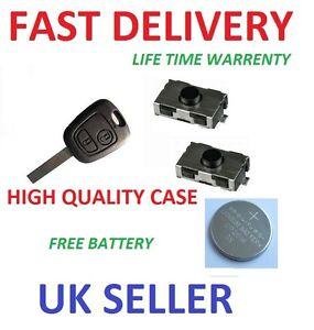 peugeot 307 2 button remote repair refurbishment kit key case switches battery ebay. Black Bedroom Furniture Sets. Home Design Ideas