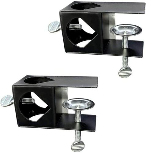 Deck Torch Clamp, Set of 2 Outdoor Torch Mount Holder, Deck or Porch Rail 2