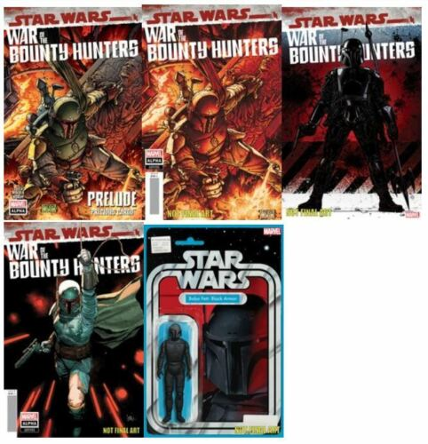 🔥 STAR WARS WAR BOUNTY HUNTERS ALPHA  #1 (2021,MARVEL) LOT 5 REG & VARIANT  🔥
