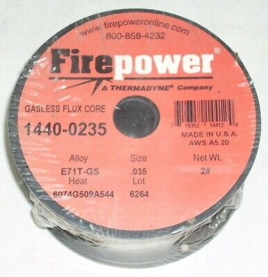 2 Victor Firepower E71t-gs Gasless Flux Core Welding Wire .035 2 Lb Rolls