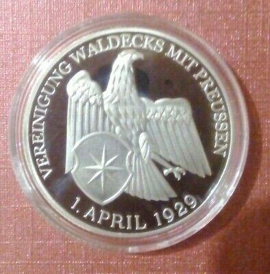 Münze:Weimarer Rep. 1929, -PP-, Waldeck/Preussen, - GELEGENHEIT !!! - Nachpräg.!