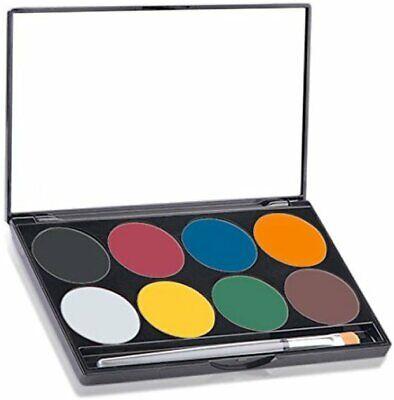 Halloween Makeup Basics (Paradise AQ Face & Body Paint 8 Color Palette, MEHRON MAKEUP,)