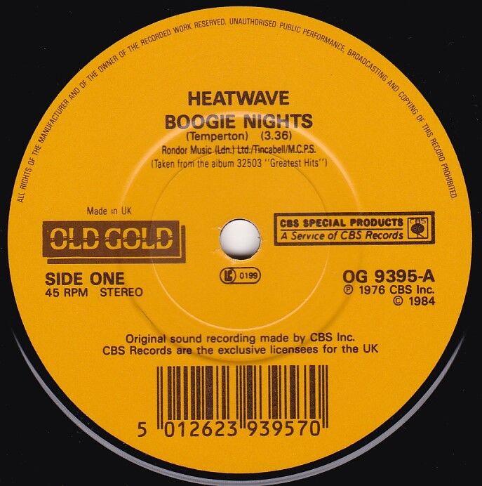 7 Single HEATWAVE / Boogie Nights - OLD GOLD 9395 -UK- - 2,50 €