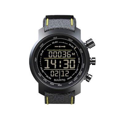 Suunto Elementum Terra n/Black/Yellow Leather Premium ABC Watch SS019997000 NEW