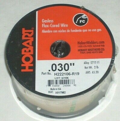 2 Hobart E71t-11 Gasless Flux Core Welding Wire .030 2 Lb Roll Usa Made 4 Total