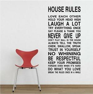 REMOVABLE Wall Stickers Decals Wallpaper Home Decor Art Vinyl Lettering Words