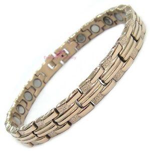 female magnetic power health rose gold bracelet ladies. Black Bedroom Furniture Sets. Home Design Ideas