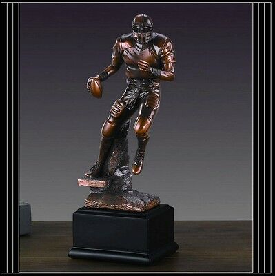 Football Player Great Detail Beautiful Bronze Statue / Sculpture Brand New