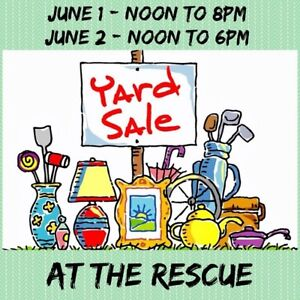 IN THE WOODS ANIMAL RESCUE  MASSIVE YARD SALE THIS WEEKEND!