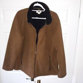 Mens XL brown bomber style jacket