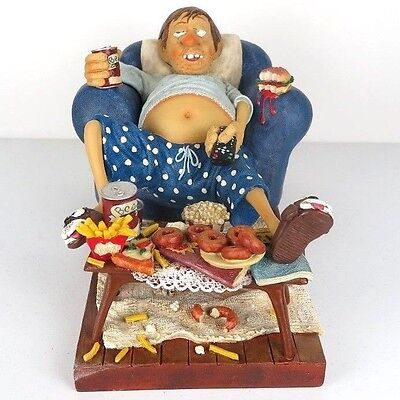 "The Couch Potato by Guillermo Forchino Caricature Figurine Miniature 13""L New"