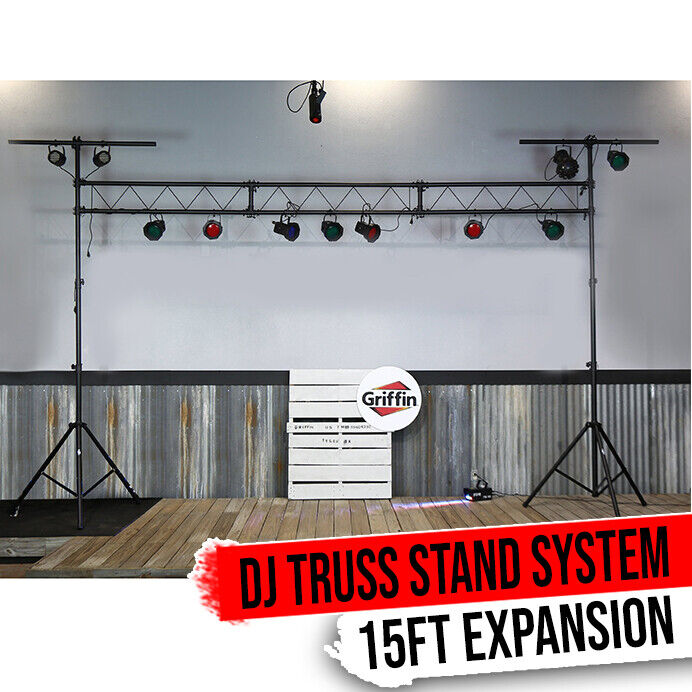 Light Truss Stand System - Trussing DJ Booth Kit Lighting Stage PA Speaker T-Bar