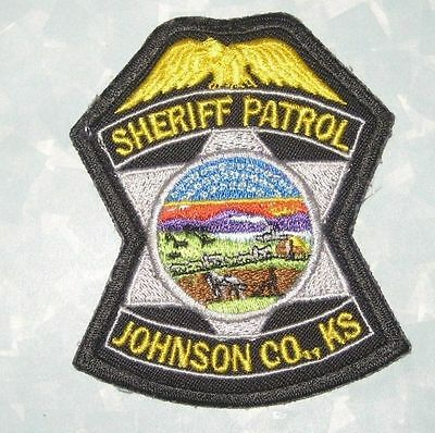 "Johnson County Kansas Sheriff Patrol Patch - 2 7/8"" x 3 1/2"""