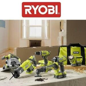 OB 6PC RYOBI 18V COMBO TOOL KIT P884 202234789 ONE Ultimate 6 Piece SET OPEN BOX