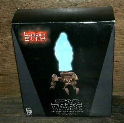 Star Wars Chair (SIDESHOW STAR WARS DARTH SIDIOUS HOLOGRAPHIC WITH CHAIR NEW BOXED SET 1/6)