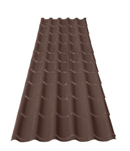 8 Sheets of Steel Roofing - Elite Profile - Coffee Brown