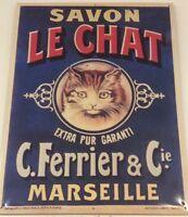 Plaque émaillé Savon La Chat