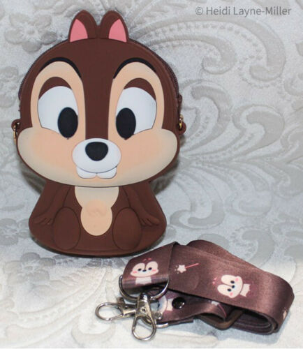 Disney Mickey Mouse Donald Duck Chip & Dale Coin Purse Crossbody Bag US SELLER