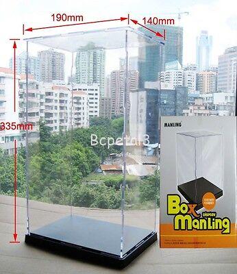 13.2x7.5x5.5 Clear Acrylic Display Case Transparent Plexiglass Dustproof Box