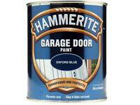 HAMMERITE GARAGE DOOR PAINT Oxford Blue 750ml New