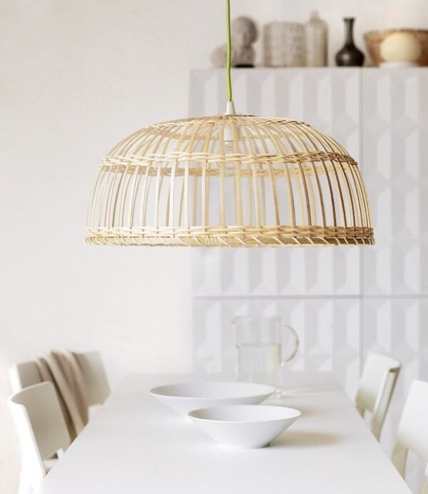 Ikea Wicker Lamp Shades: In Edinburgh City Centre