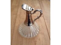 Glass n silver wine carafe