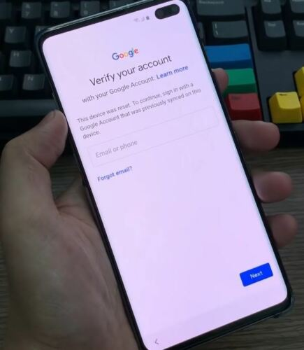 Google account FRP bypas removal Samsung Galaxy S10E S10 S10+ G970 G973 G975