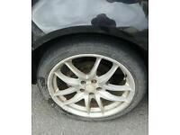 Golf mk4 5x100 17 inch alloy wheels audi a3 seat leon skoda vrs