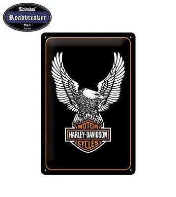 Harley Davidson Retro Blechschild / Tin Sign Modell Eagle B&S