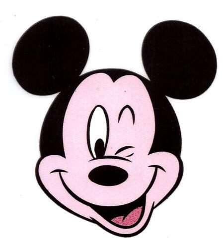 "3X3"" Mickey Mouse wink  IRON On TRANSFER Heat Vinyl Meeska Mooska Mousekedoer"
