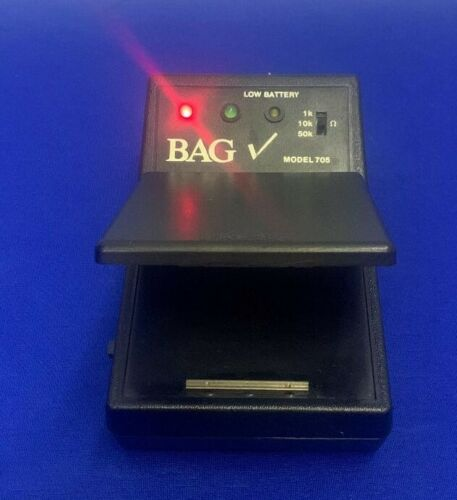 BAG CHECK 3M ELECTRICAL SPECIALTIES DIVISION 705,TESTED TO POWER UP