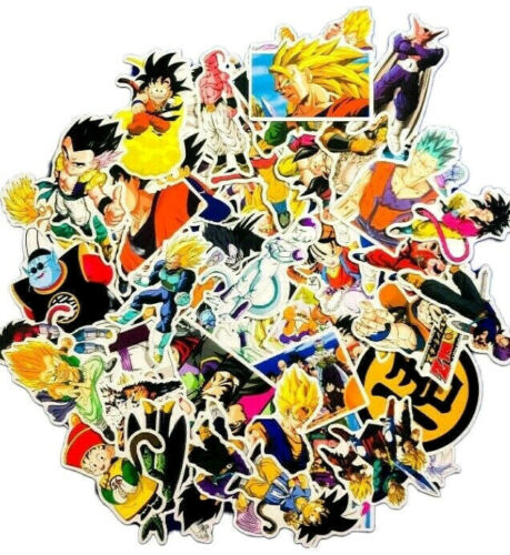 50 Random Dragon Ball Z GT Laptop PS XBOX Phone Character Decal Sticker Pack Set