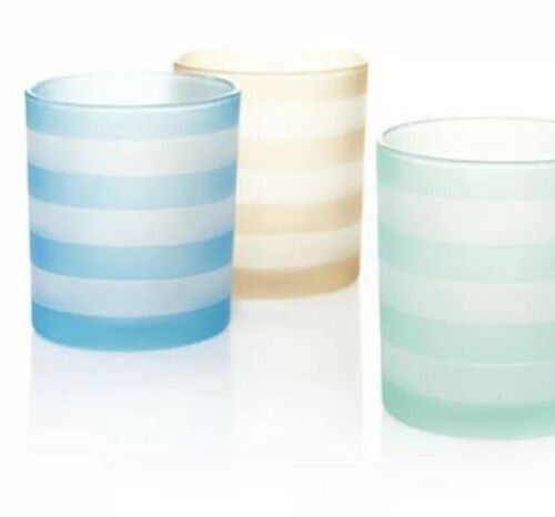 into port striped set of 3 tea