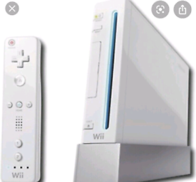 Wii Console - including x2 remotes and wires