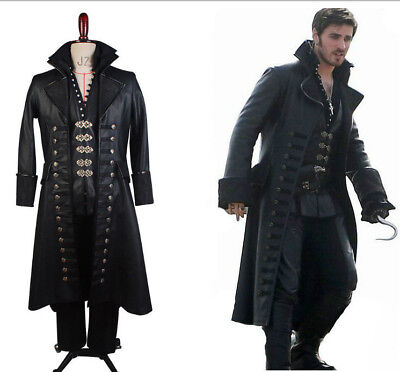 Hook Once Upon A Time Costume (Once Upon A Time Captain Hook Killian Jones Cosplay Attire Suit Costume)