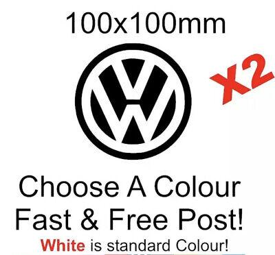 VW Logo stickers volkswagen transporter beetle t3 t4 t5 Car van decal funny x2