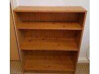 Oak effect bookshelf